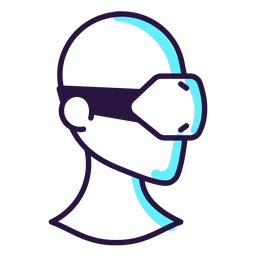 Augmented reality headset icon
