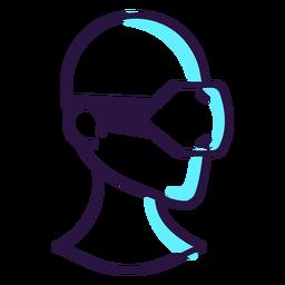 Icono de auriculares de realidad aumentada