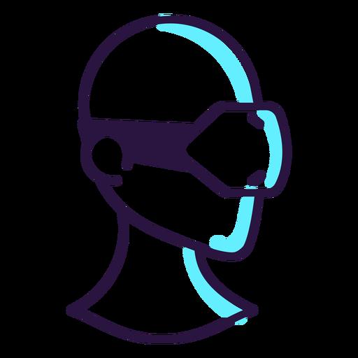 Icono de auriculares de realidad aumentada Transparent PNG