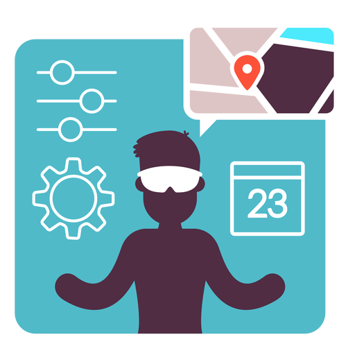 Augmented Reality Flat Illustration  Transparent PNG
