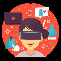 Augmented reality illustration shopping