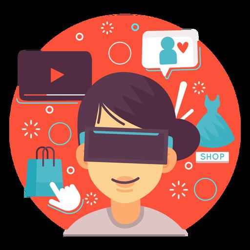 Compra de ilustração de realidade aumentada Transparent PNG