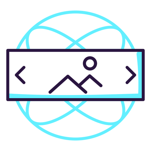 Augmented reality landscape icon Transparent PNG