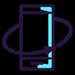 La realidad aumentada gira el icono del teléfono inteligente
