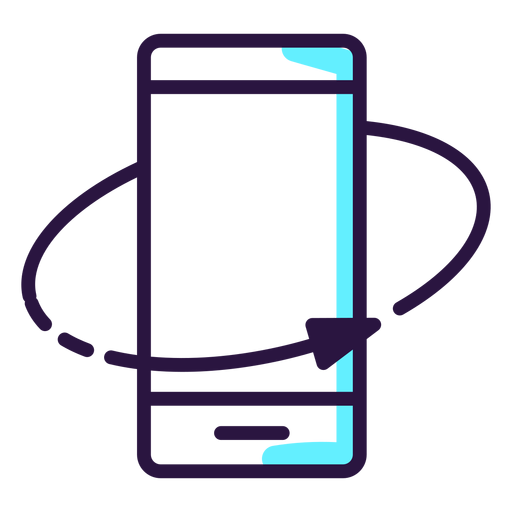 Augmented reality rotate smartphone icon Transparent PNG