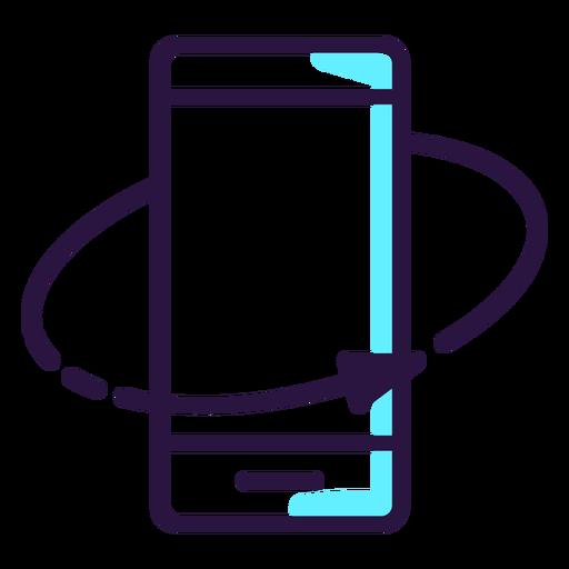 Icono de smartphone rotado de realidad aumentada Transparent PNG