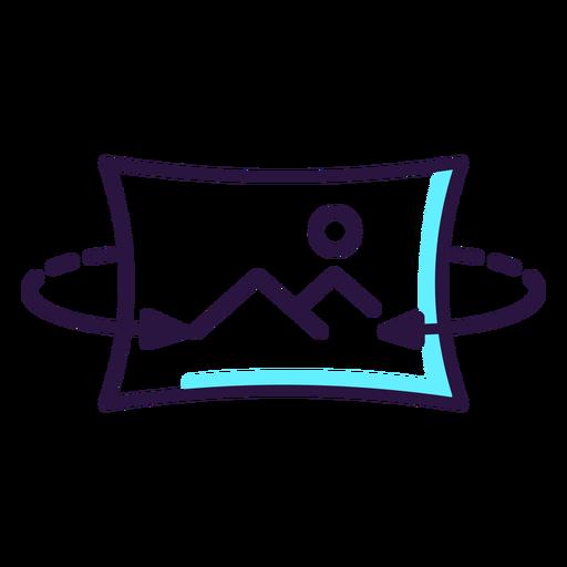 Icono de imagen giratoria de realidad aumentada Transparent PNG