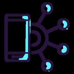 Icono de teléfono inteligente de realidad aumentada