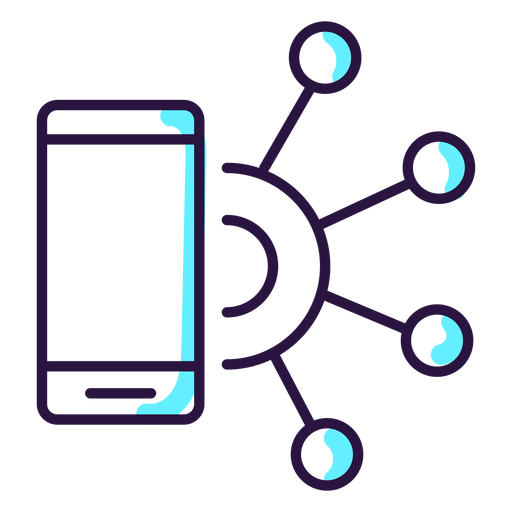 Augmented reality smartphone icon Transparent PNG