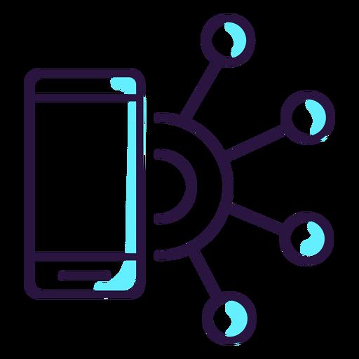 Icono de smartphone de realidad aumentada Transparent PNG