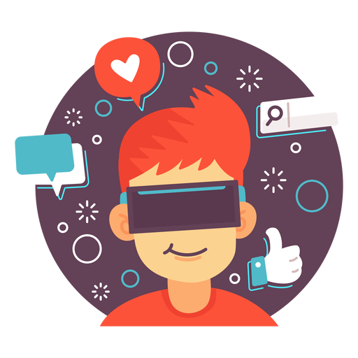 Augmented reality social media illustration Transparent PNG