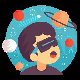 Ilustração de espaço de realidade aumentada