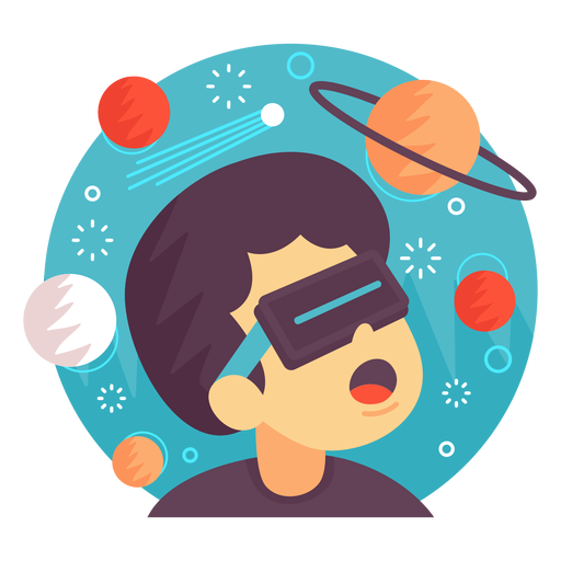 Augmented reality space illustration Transparent PNG