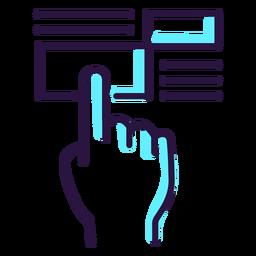 Ícone de tela sensível ao toque de realidade aumentada