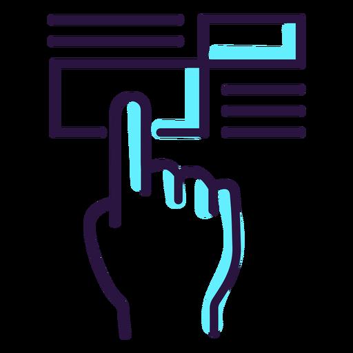 Icono de pantalla táctil de realidad aumentada Transparent PNG