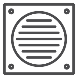 Bathroom fan stroke icon