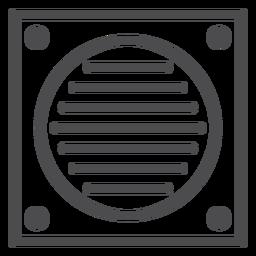 Icono de movimiento de ventilador de baño
