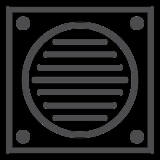 Bathroom fan stroke icon