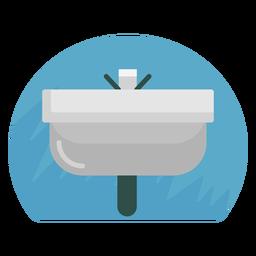 Badezimmer Waschbecken Symbol