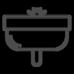 Badezimmer Waschbecken Strich Symbol