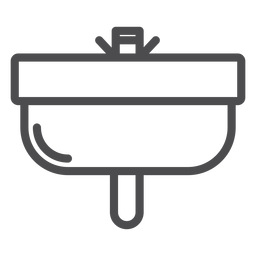 Icono de trazo del lavabo