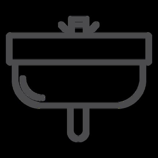 Bathroom sink stroke icon
