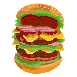 Grande, hambúrguer, ícone