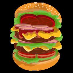 Icono de hamburguesa grande
