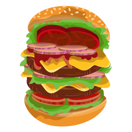 Big burger icon Transparent PNG