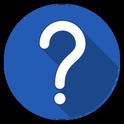 Ícone de ponto de interrogação do círculo azul