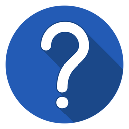 Blue circle question mark icon