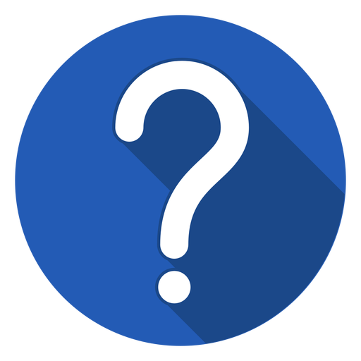 Blue circle question mark icon Transparent PNG