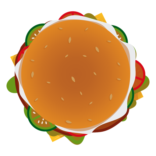 Burger top view icon Transparent PNG