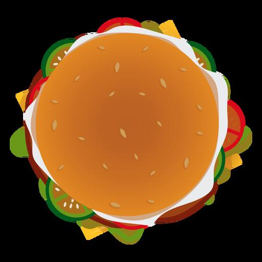 Icono de vista superior de hamburguesa Transparent PNG