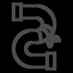 Icono de carrera de reparación de tubería de ráfaga