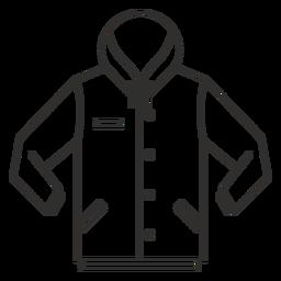 Botón de sudadera con capucha icono de movimiento