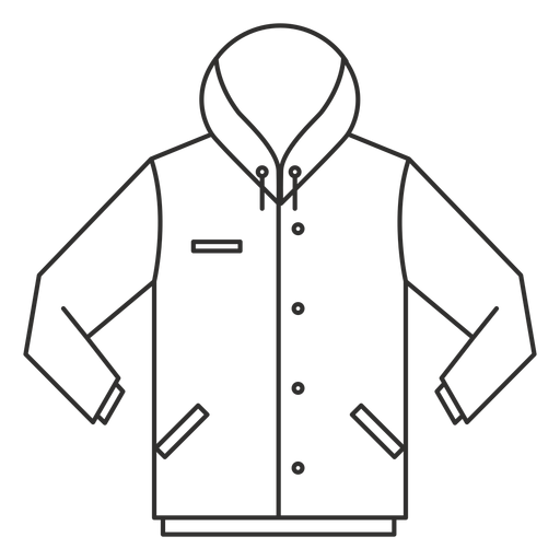 Button hoodie stroke icon Transparent PNG