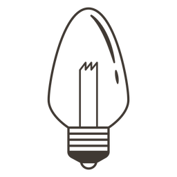 Candle light bulb stroke icon