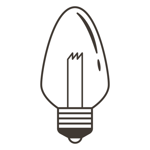 Icono de trazo de bombilla de vela Transparent PNG