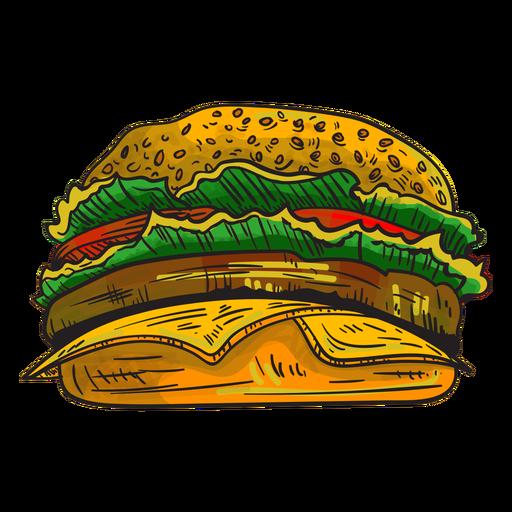 Cheeseburger cartoon Transparent PNG