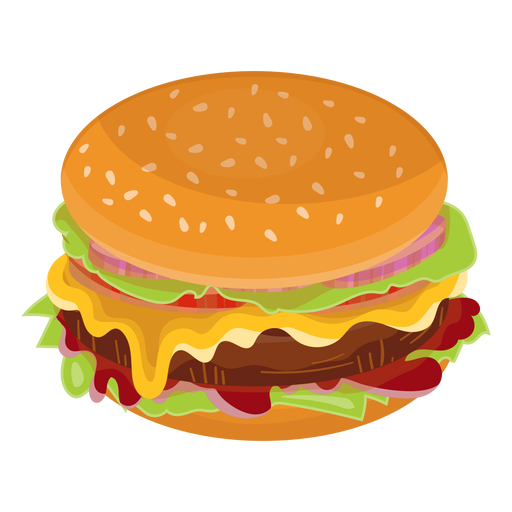 Cheeseburger flat icon Transparent PNG