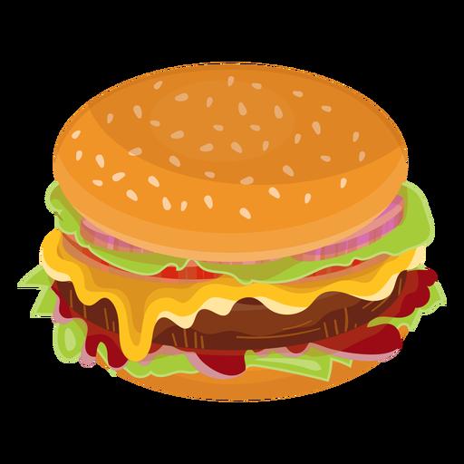 Icono plana de hamburguesa con queso Transparent PNG