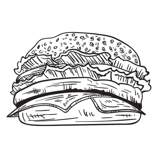 Cheeseburger sketch Transparent PNG