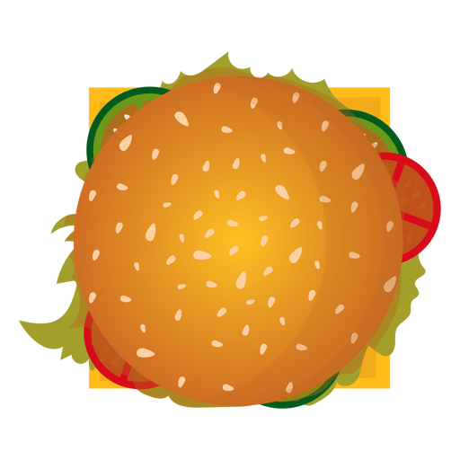 Icono de vista superior de hamburguesa con queso Transparent PNG