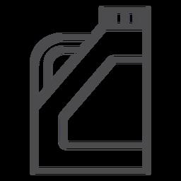 Icono de trazo de limpiador de drenaje químico
