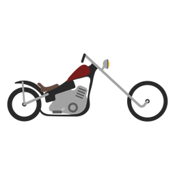 Icono de motocicleta Chopper