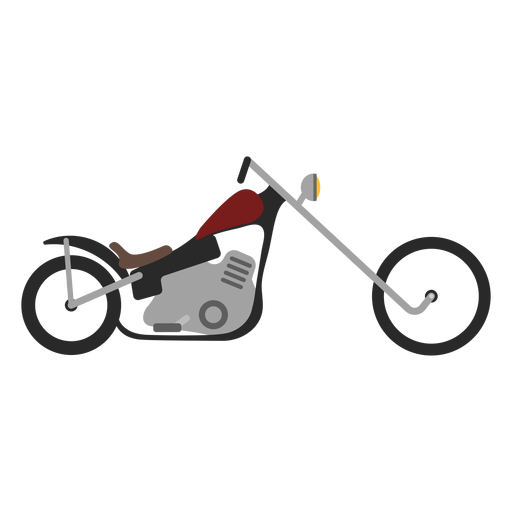 Chopper motorcycle icon Transparent PNG