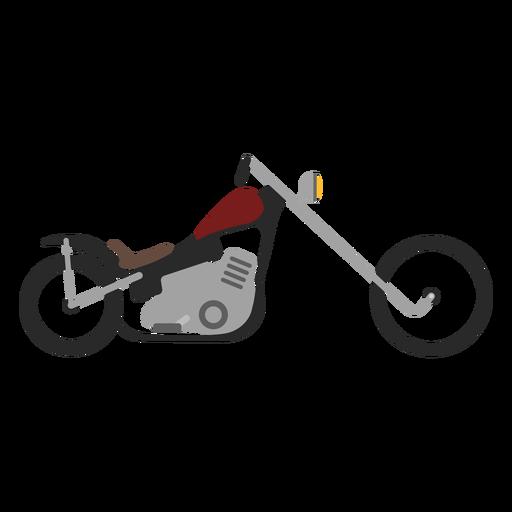 Icono de moto Chopper Transparent PNG