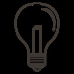 Klassische Glühbirne-Strich-Symbol