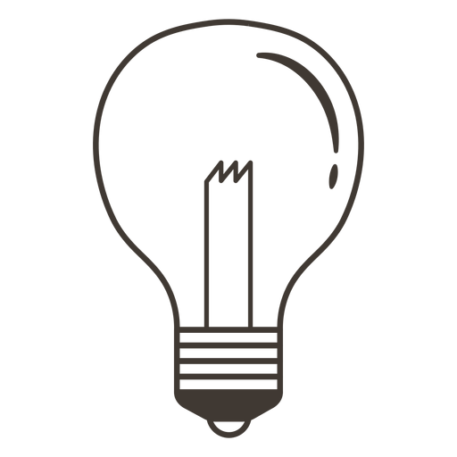 Classic light bulb stroke icon Transparent PNG